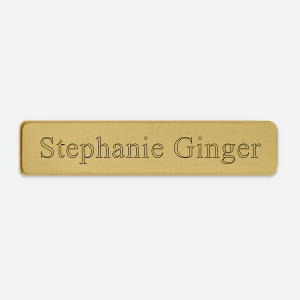 "Brass Name Badge  2  3/8"" x 1/2"" - Things Engraved"