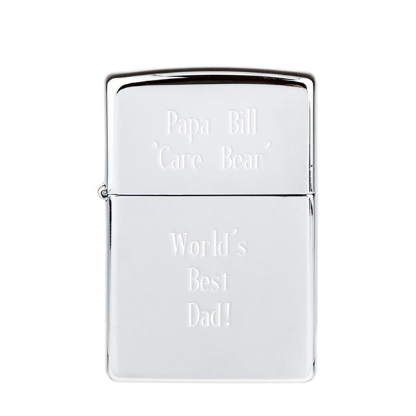 Zippo Chrome Lighter - Things Engraved