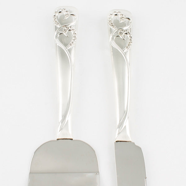 Everlasting Heart Cake Server Set - Things Engraved