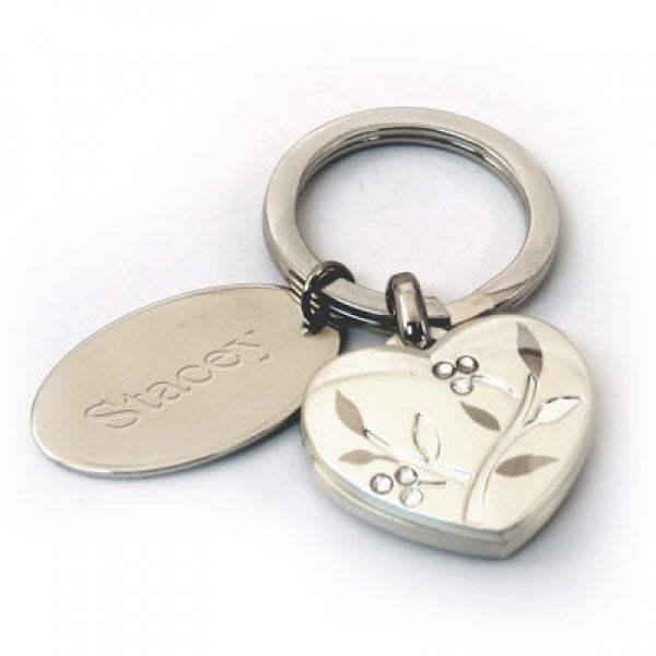 Venice Heart Key Chain with Tag - Things Engraved