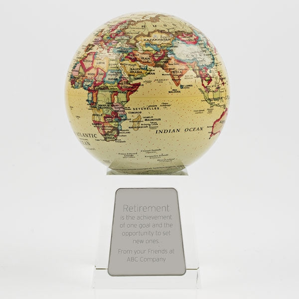 Mova Globe with Crystal Base - Things Engraved