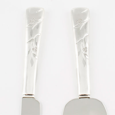 Venice Cake & Knife Serving Set - Things Engraved