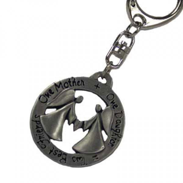 Mother+Daughter Pewter Keychain - Things Engraved