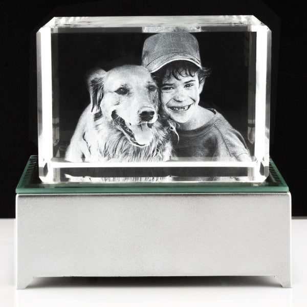 3D Photo Crystal Large - Things Engraved