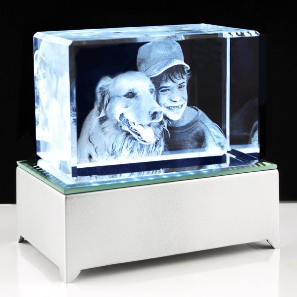 3D Photo Crystal Large with key chain