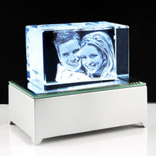 3D Photo Crystal Small with keychain - Things Engraved