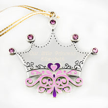 Purple Tiara Ornament - Things Engraved