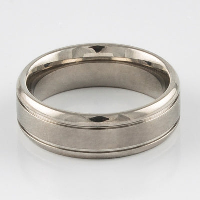 Titanium Ring - Grooved Line - Things Engraved