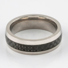 Titanium Ring - Black Carbon Fibre - Things Engraved