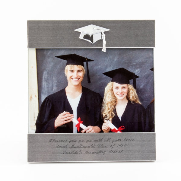 5x7 Silver Grad Frame-Cap Icon - Things Engraved