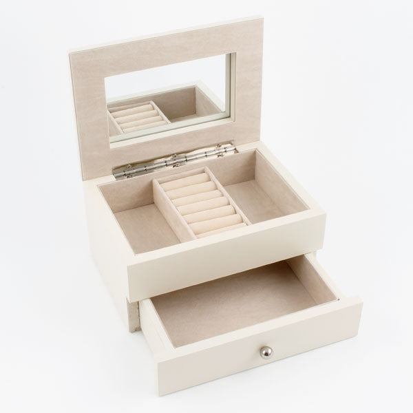 Flowers Jewellery Box - Light Beige
