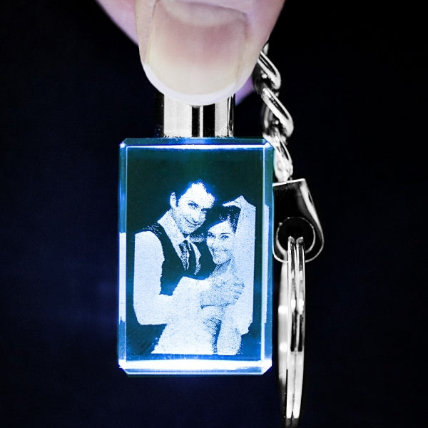 3D Photo Crystal Extra Large with Key Chain - Things Engraved