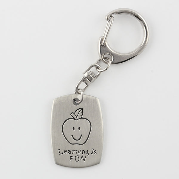 Learning is Fun/Teacher Keychain - Chelsea Pewter - Things Engraved