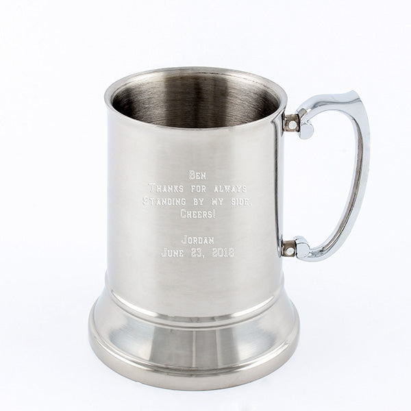 Tankard - Stainless Steel 500ml - Things Engraved