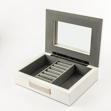 White Jewel Box with Butterfly Lid - Things Engraved