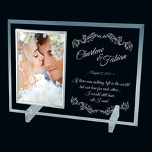 "Glass Picture Frame 5""x7"" - Large - Things Engraved"