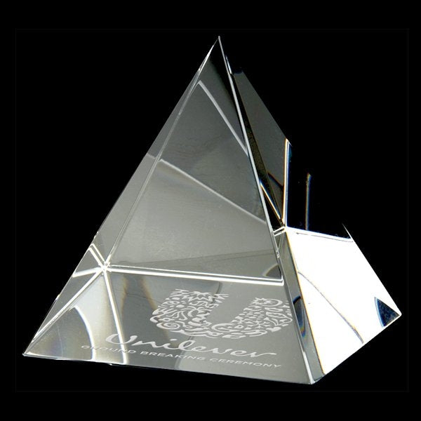 "Pyramid Paperweight 4 3/8"" - Large - Things Engraved"