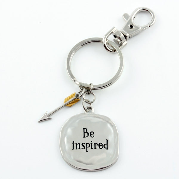 "Keychain ""Be inspired"" - Things Engraved"