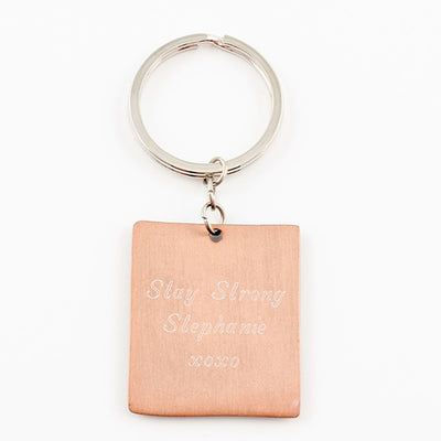 Mixed Metal Keyring - Faith Hope Love - Things Engraved