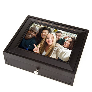 Graduation Photo Top Box Black - Things Engraved