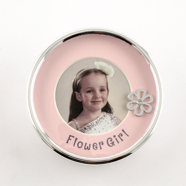 Flower Girl Photo Trinket Box - Things Engraved