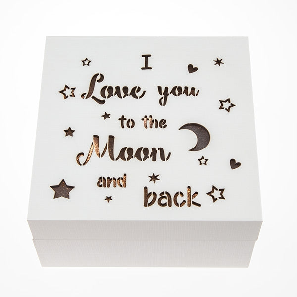 Love You To The Moon LED Box - Things Engraved