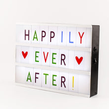 Cinematic Lightbox - Coloured Letters