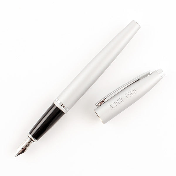 Cross Calais Fountain Pen - Matte Silver