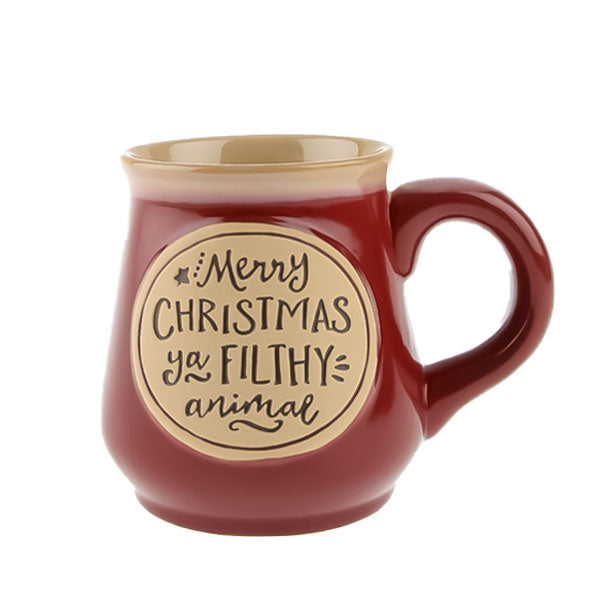 "Mug - ""Merry Christmas Ya Filthy Animal"" Red"