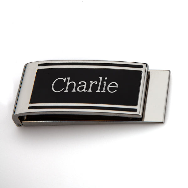 Money Clip Black Matte and Silver