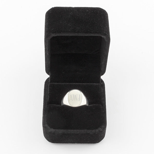 Mens Plain Oval Signet Ring - Things Engraved