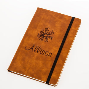 Leather-Look Notebook - Brown - Things Engraved