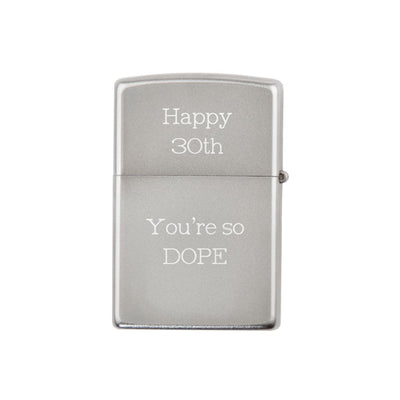 Zippo Lighter Chrome with Legal Stamp