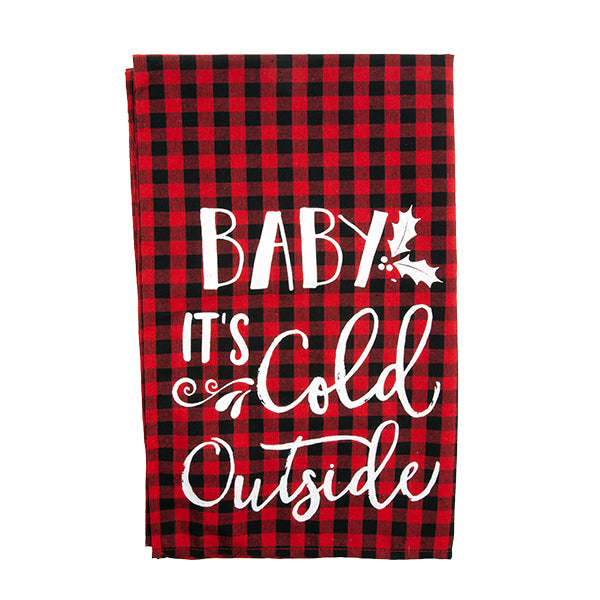 "Tea Towel - ""Baby's It's Cold Outside"""