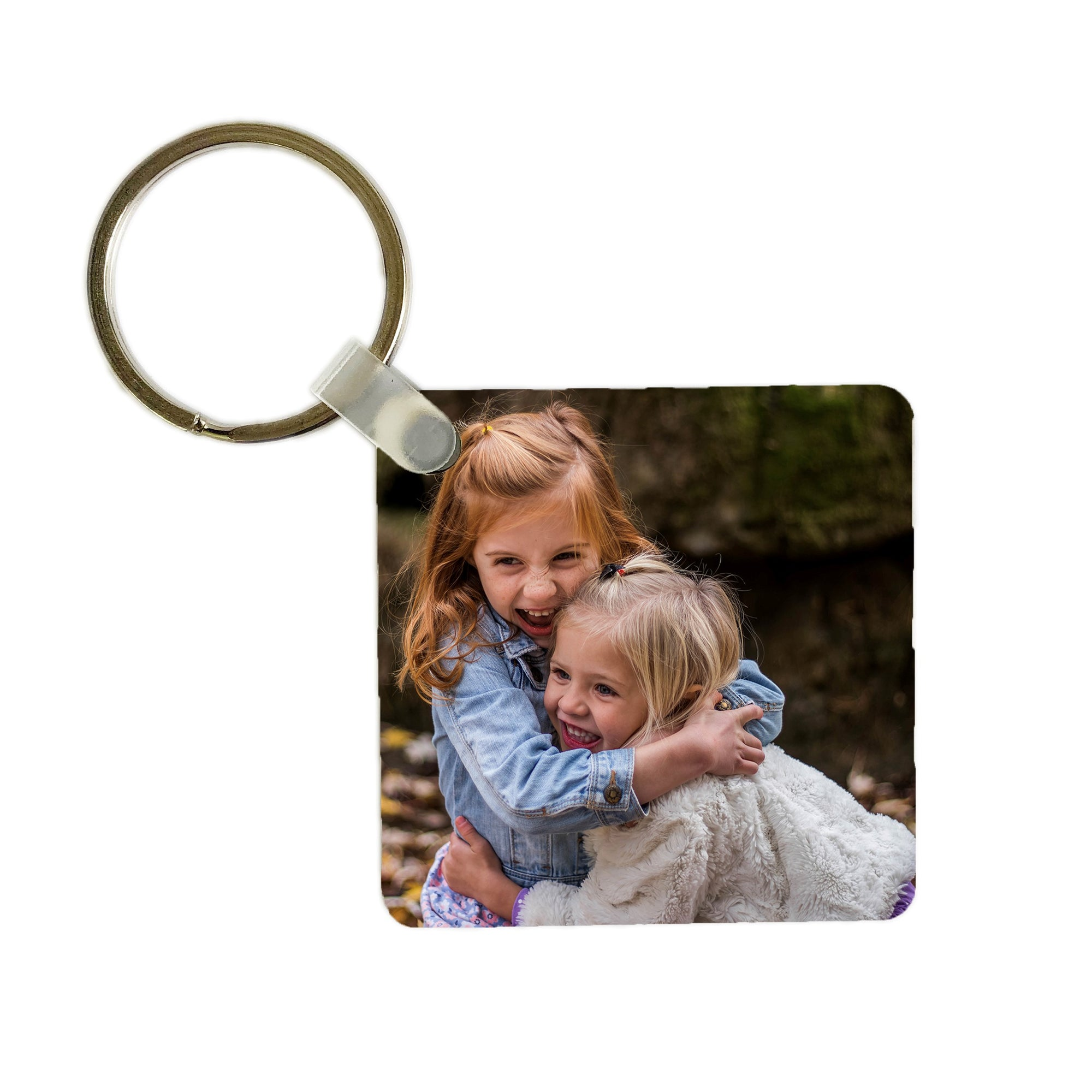 Square custom photo keychain
