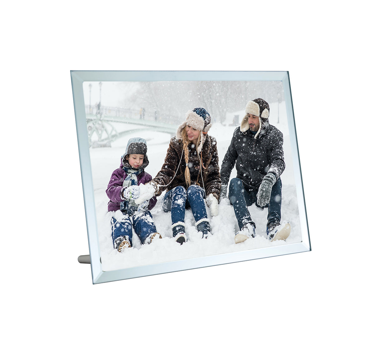 Glass photo plaque 7x9