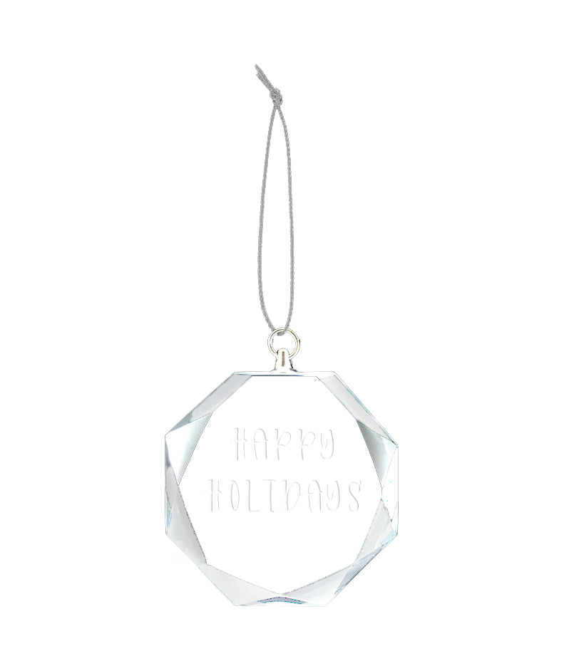 round glass bevelled ornament