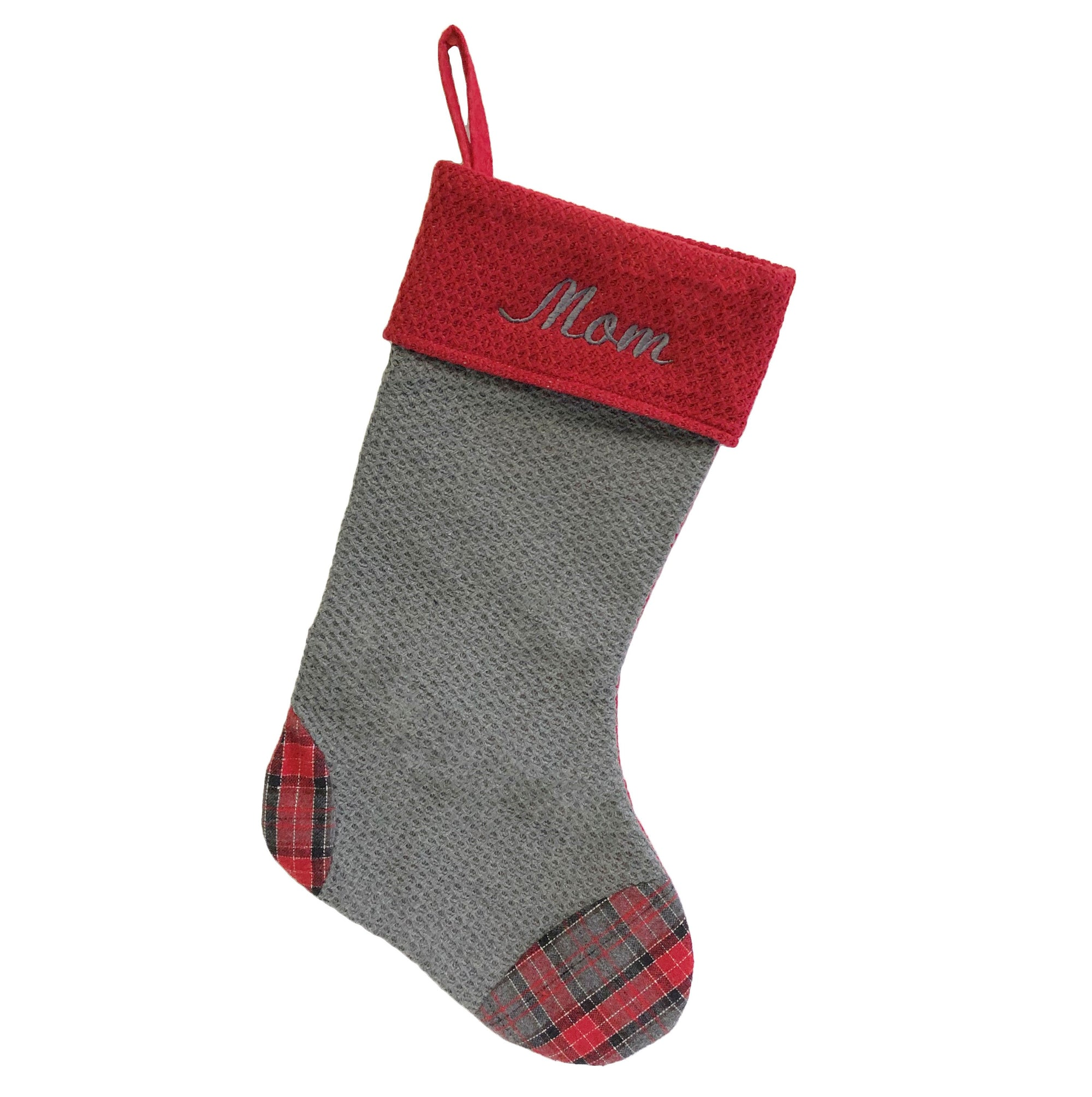 Grey Knit Stocking