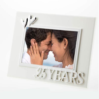 25 Years White Frame