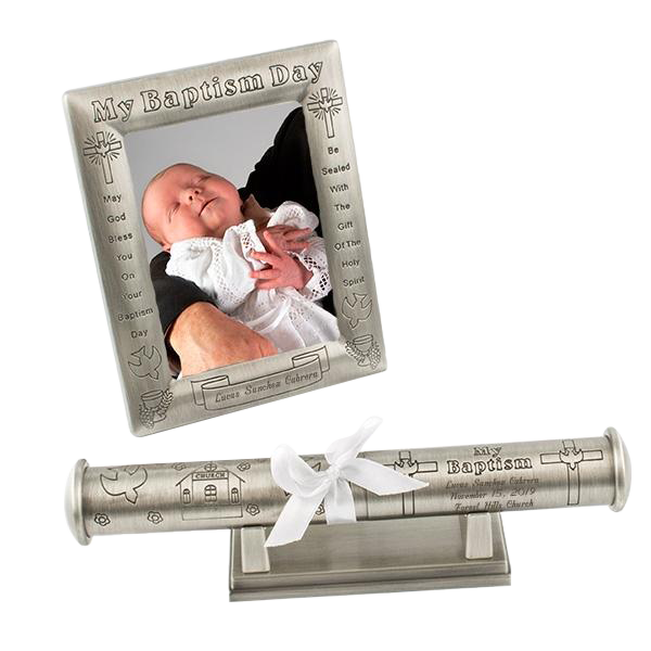 Baptism Pewter 3 piece set