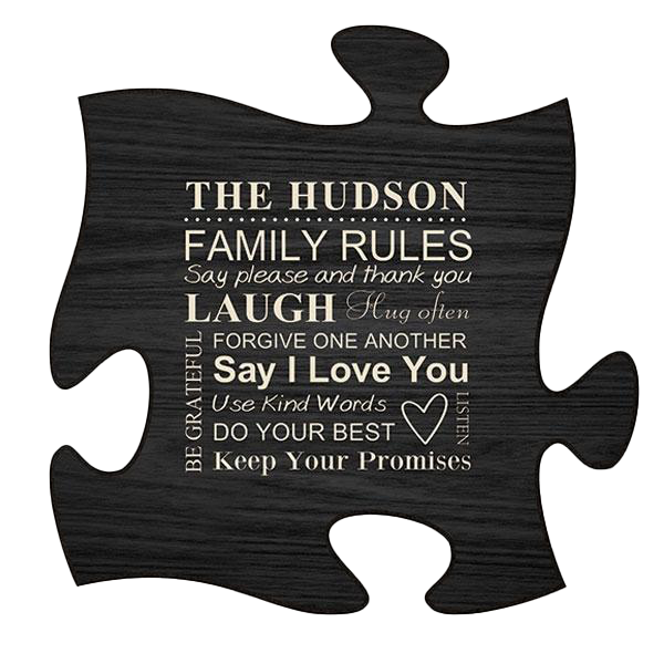 Black Puzzle Plaque