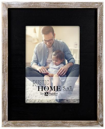 Black Rustic Wooden Frame 5x7