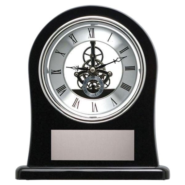 Black Skeleton Clock