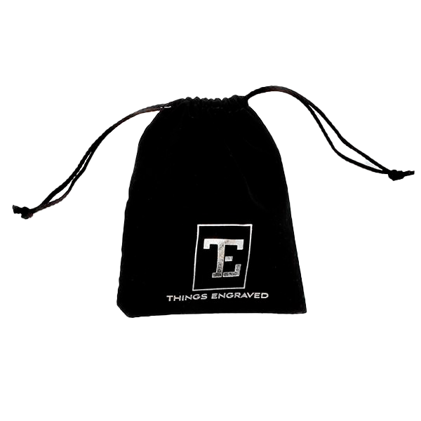 Black Velvet Gift Pouch/Gift Bag with Logo
