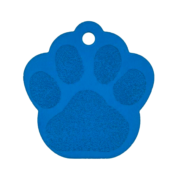 Blue Paw Pet Tag
