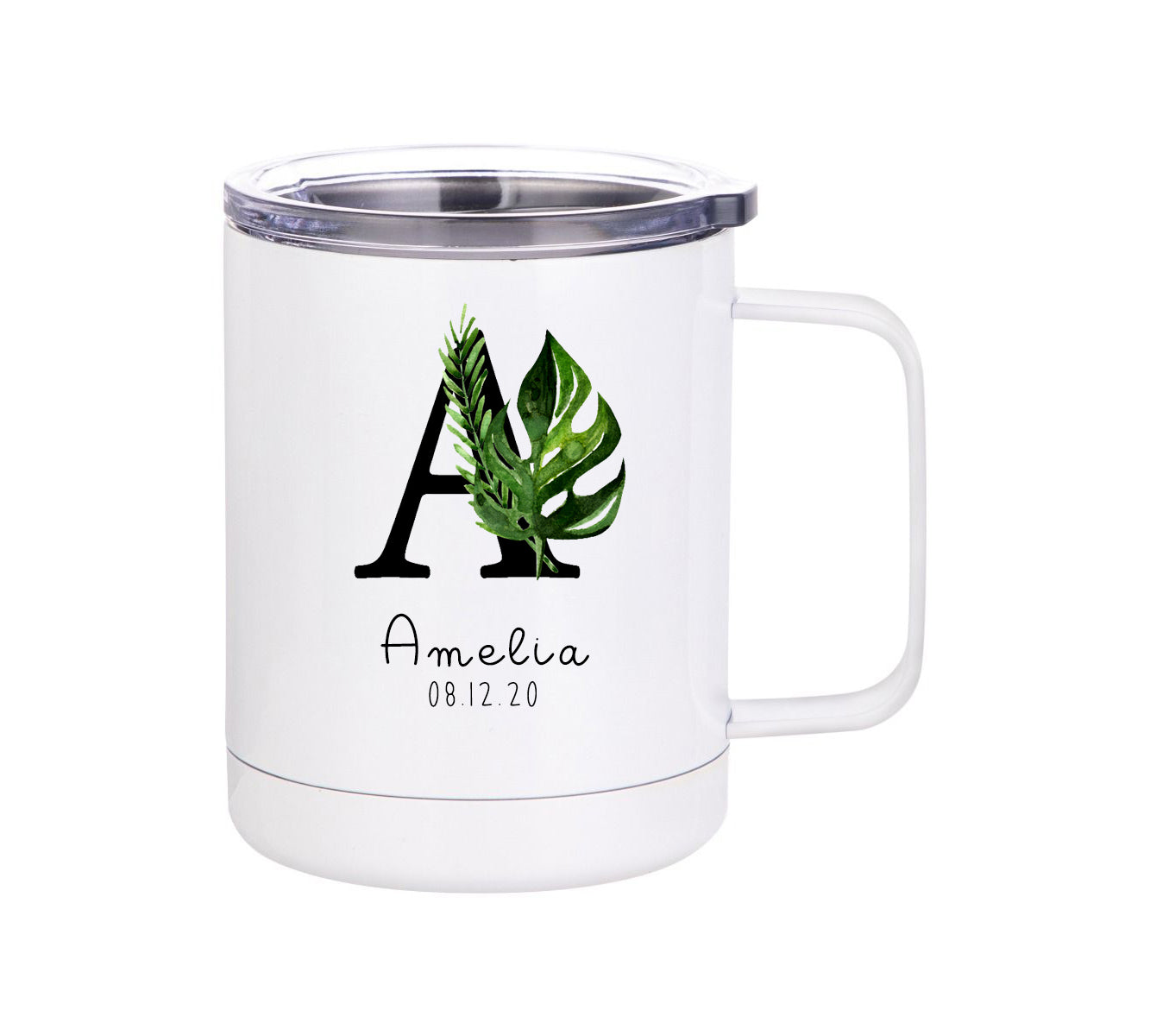 Botanical Monogram Insulated mug