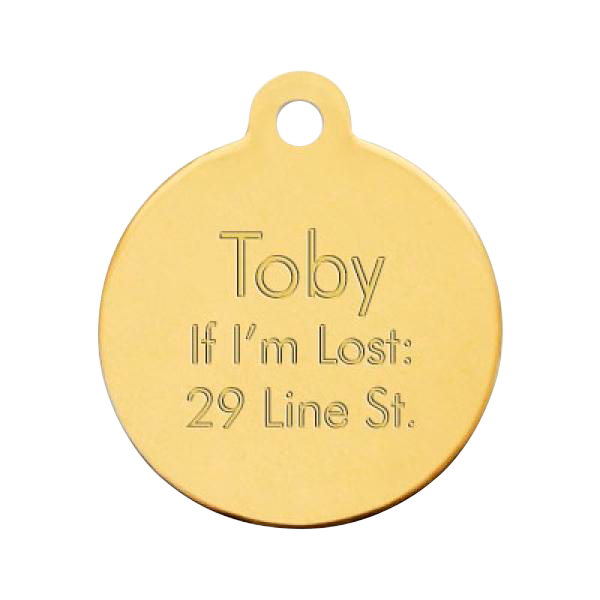 Brass Pet Tag