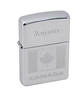 Canada Flag Etched Zippo Lighter