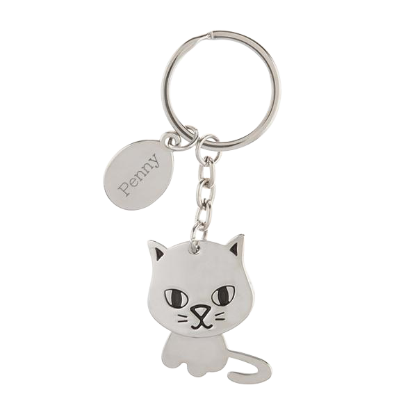 Cat Keychain with Moving Head