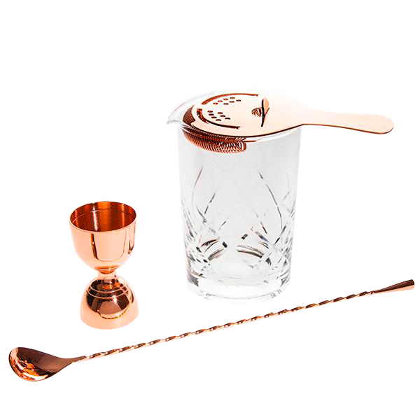 Copper Stirred Cocktail Set